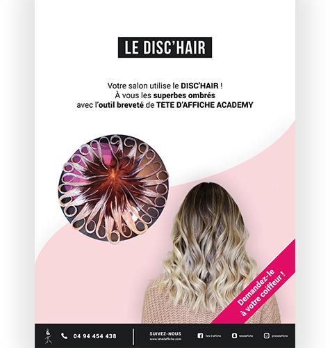 Toile Disc'Hair 60x80cm